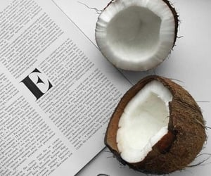 black, book, and coconut image