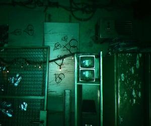 cyberpunk, green, and locker image