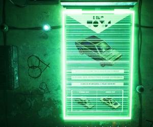 cyberpunk, green, and sci-fi image