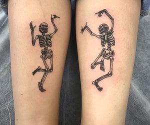 skeleton and tattoo image
