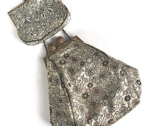 Vintage Purse Damask with matching Coin Purse France image 0