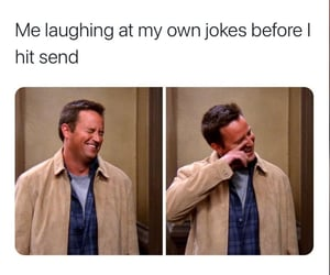 chandler, funny, and meme image
