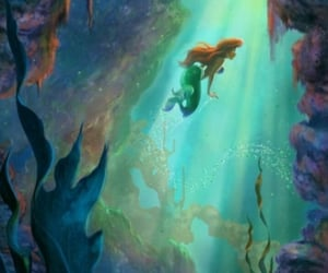 animation, ariel, and disney princess image