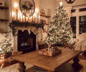 christmas, lights, and christmas tree image