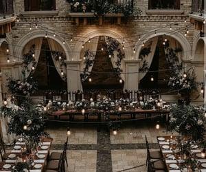 beautiful, bridal party, and wedding image