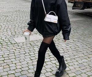 black, coffee, and walk image