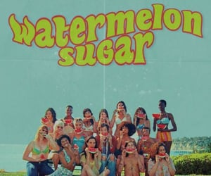 Harry Styles, wallpaper, and watermelon sugar image