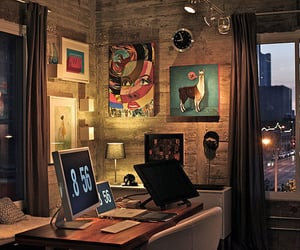 room, art, and office image