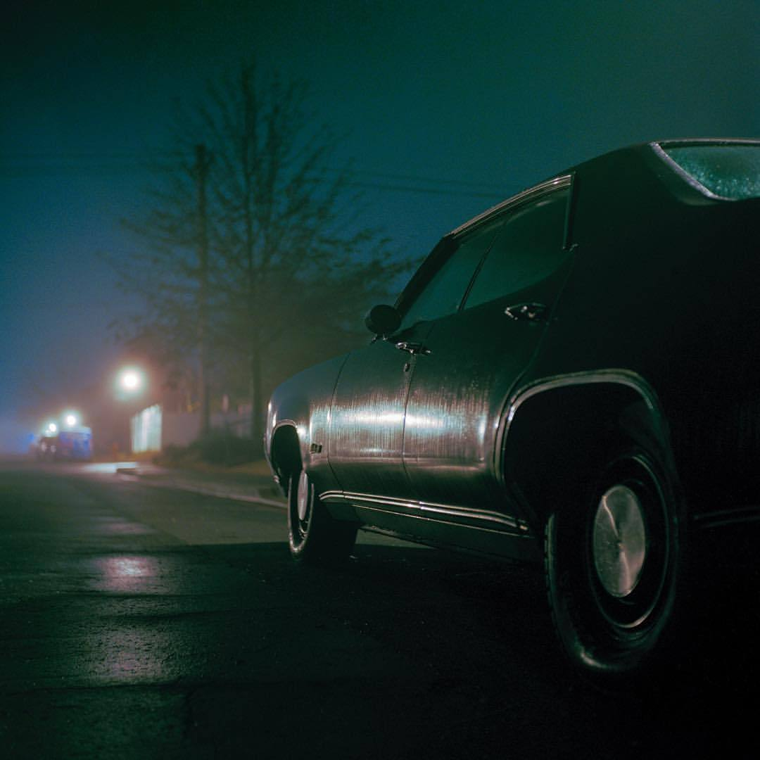 aesthetic, car, and foggy image