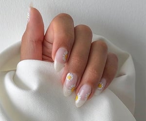 nails, flowers, and style image
