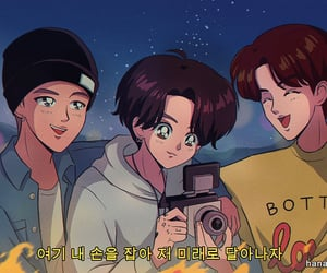 jin, rm, and fanart image