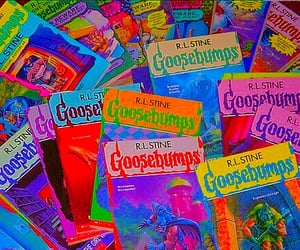 goosebumps, book, and aesthetic image
