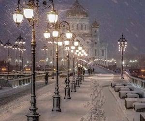 winter, snow, and light image
