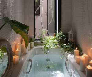 bath, plants, and relax image