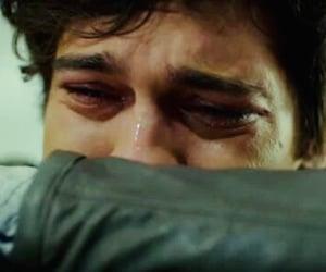 boy, crying, and eyes image