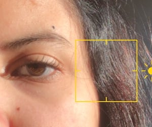 ads, brown eye, and details image