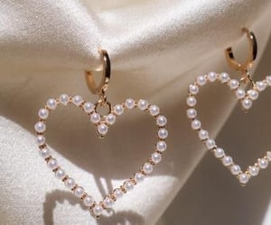 earrings, heart, and jewelry image