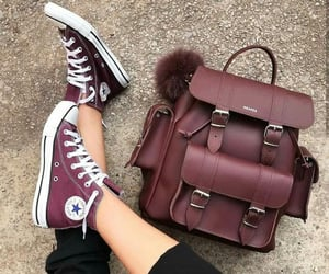 converse, bag, and burgundy image