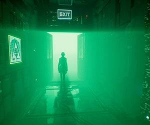 dystopian, silhouette, and exit image