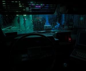 car, cyberpunk, and sci-fi image