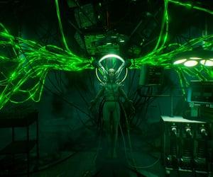cyberpunk, digital, and green image