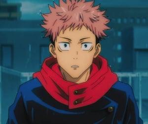 anime aesthetic, itadori yuji, and anime boys icons image