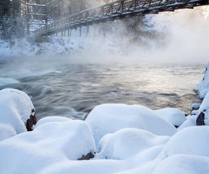 Cold morning on the Spokane River, in the Bowl and Pitcher area of Riverside State Park. by James Richman Photography