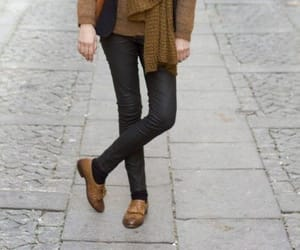 brogues, street style, and brown leather image