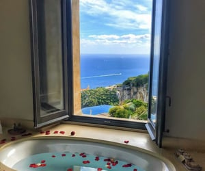 rose, view, and bath image