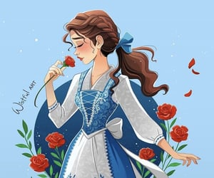 princess, beauty and the beast, and belle image