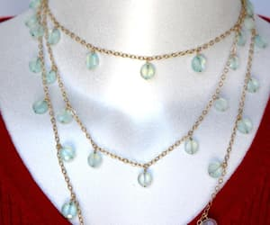 etsy, long necklaces, and calcedony necklace image