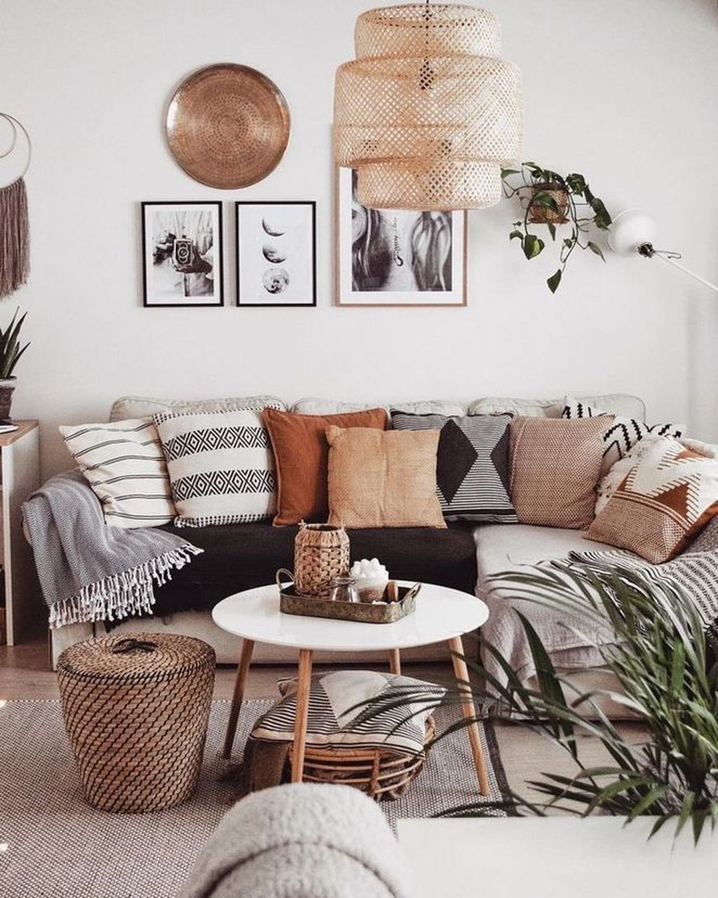 country, pillows, and sofa image
