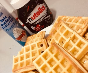 nutella, sweet, and waffles image