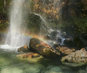 nature, waterfall, and aesthetic image