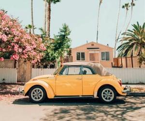 car, yellow, and summer image