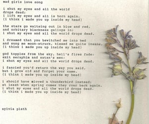 girls, love song, and plath image