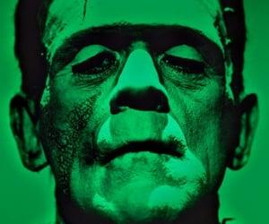 Boris Karloff, green, and Frankenstein image