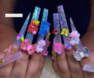 claws, acrylic nails, and long nails image