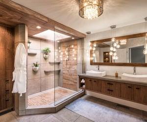 architecture, bathroom, and boho image