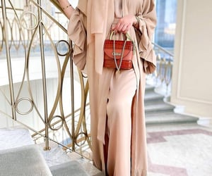 beige, brown, and hijab image