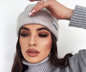 aesthetic, beanie, and beauty image