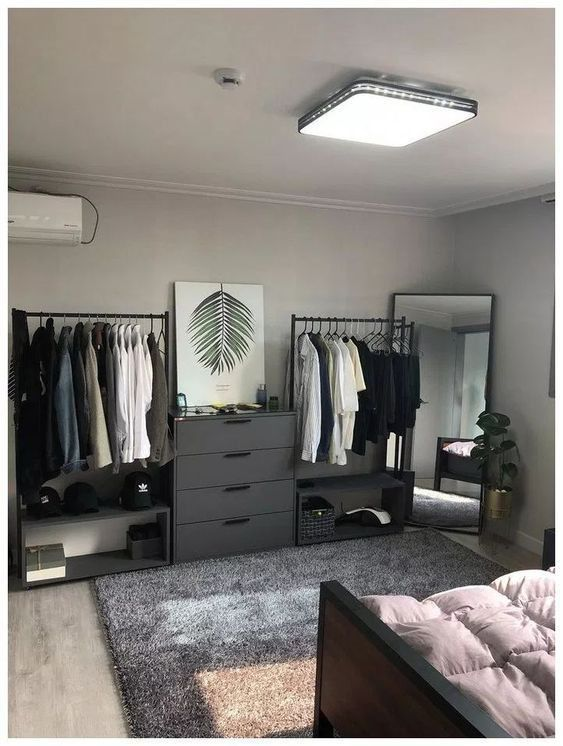 bedroom, black, and grey image