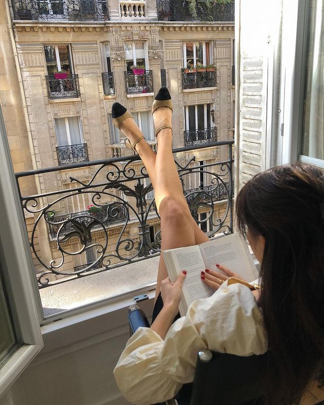 balcony, book, and faceless image