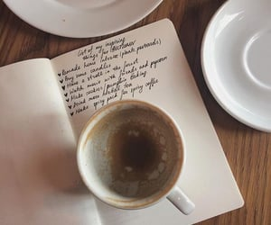 aesthetics, coffee, and notebook image