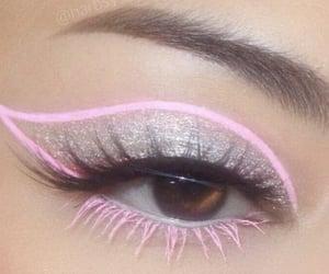 glitter, makeup, and eyeliner image