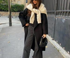 black coat, blogger, and bottega veneta image