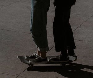 couple, skate, and aesthetic image