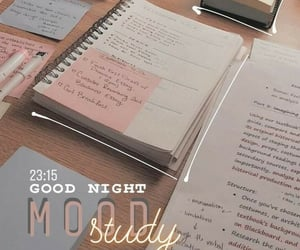 mood, notes, and study image