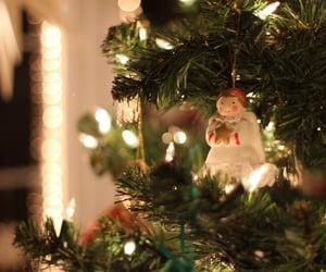 christmas, christmas lights, and snow image