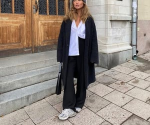 button up shirt, wide leg pants, and chic elegant image